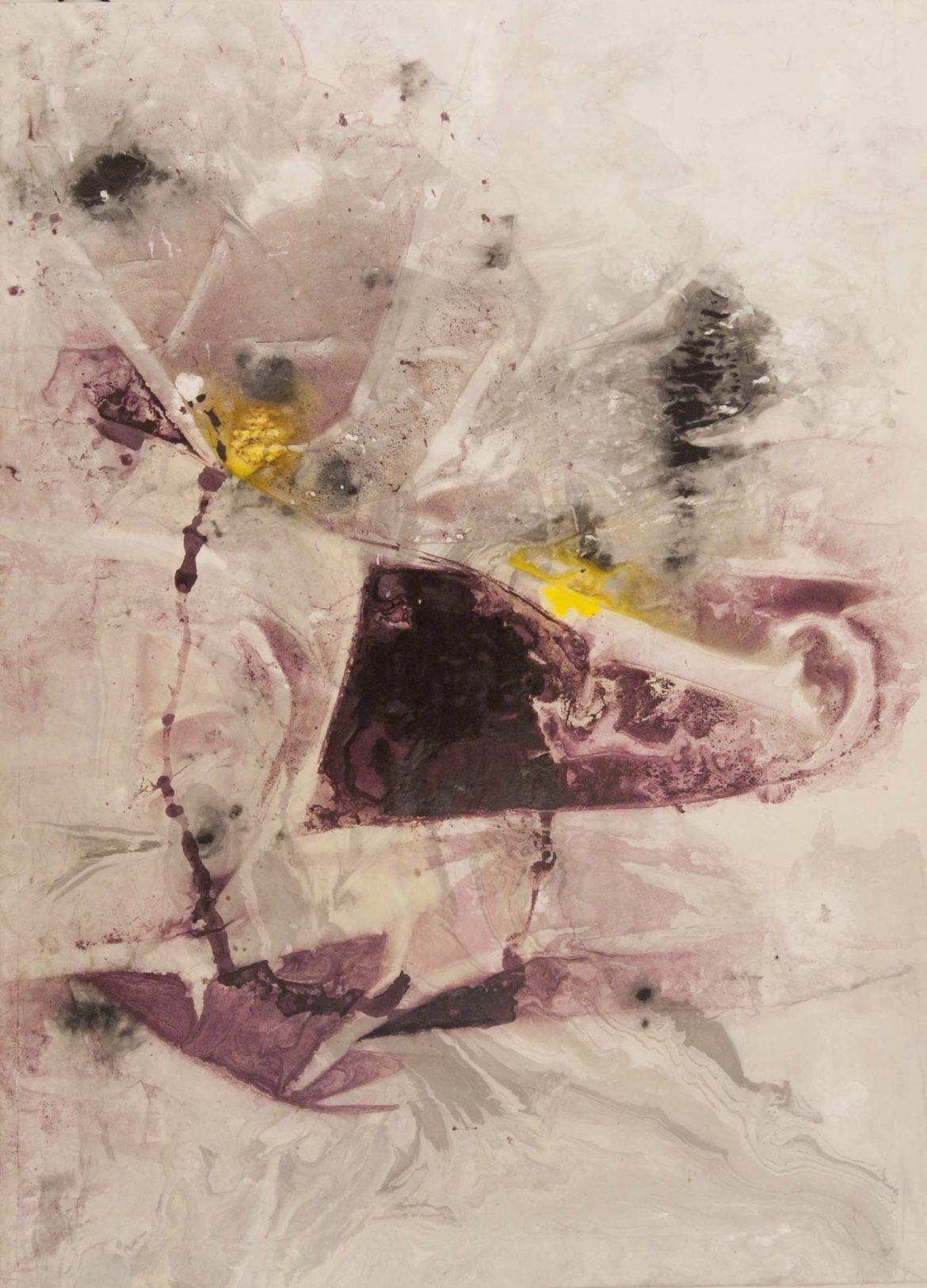 Marinella. Radici-2015.  191x205 cm Tecnica mista su carta