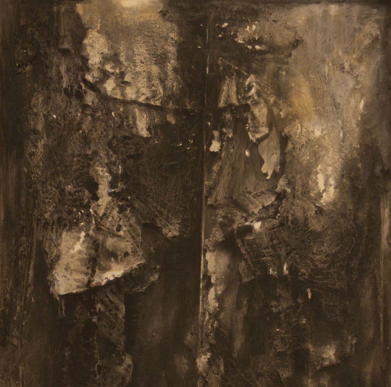 Senza titolo 5. Dryness-2015 98x100 cm Tecnica mista su legno